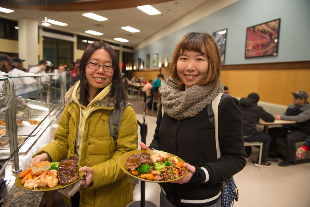 INTO ISU Dining halls offer a variety of  choices