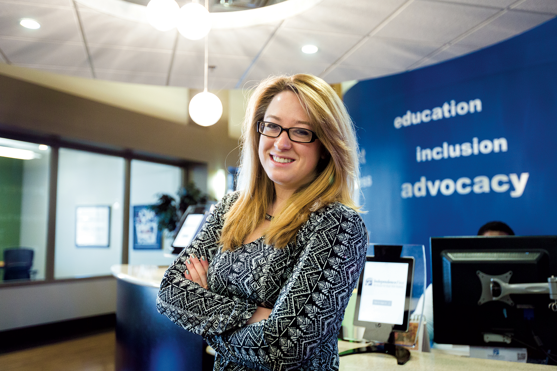 ISU Advocacy student at counter