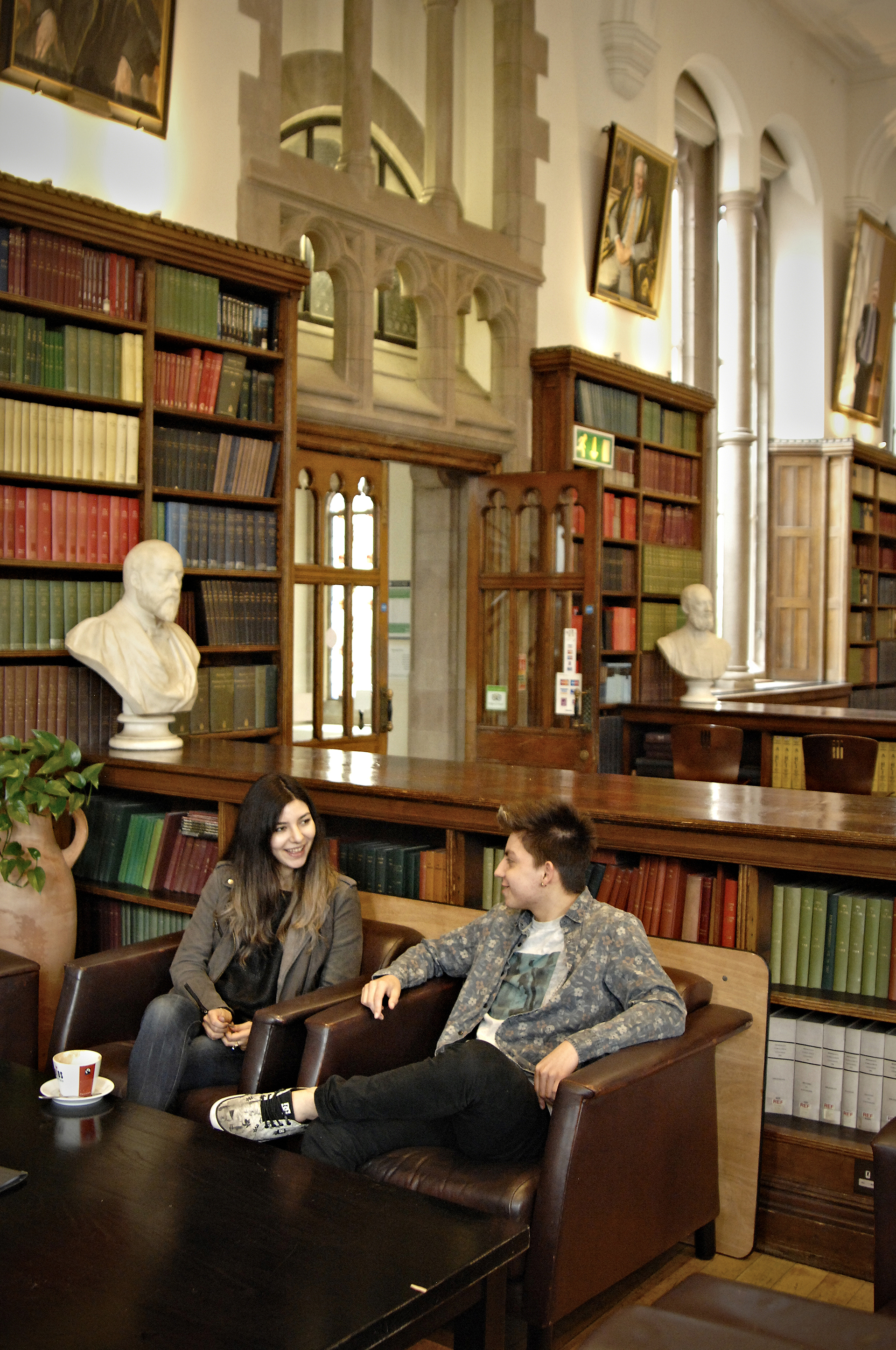Students in The University of Manchester library