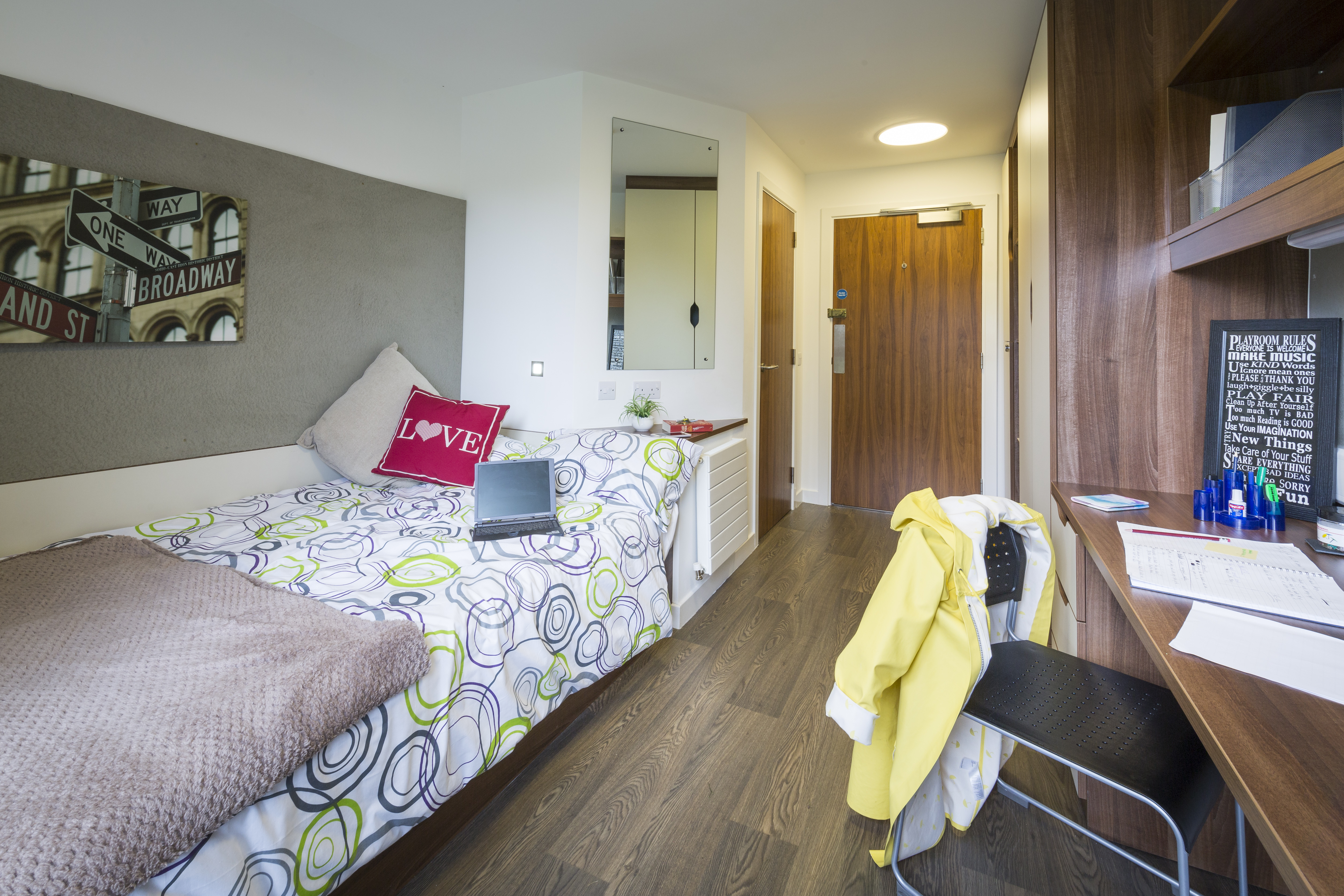 Bedroom at Beech Court student accommodation at University of Stirling