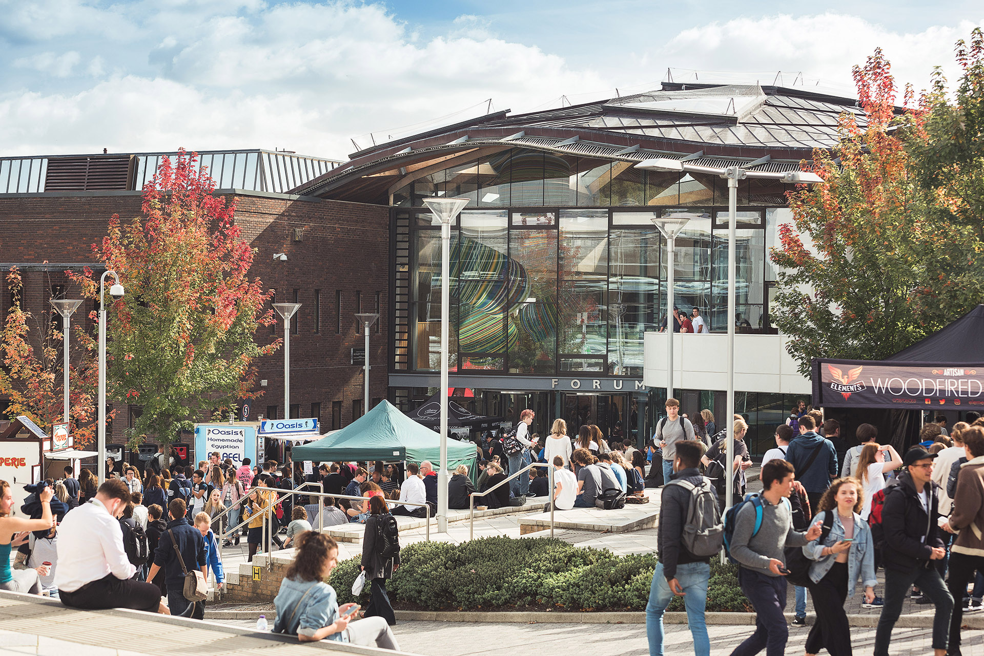 University of Exeter students at fair event on campus