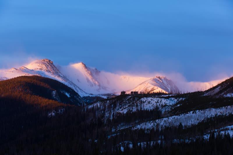 CSU Mountain view of Colorado