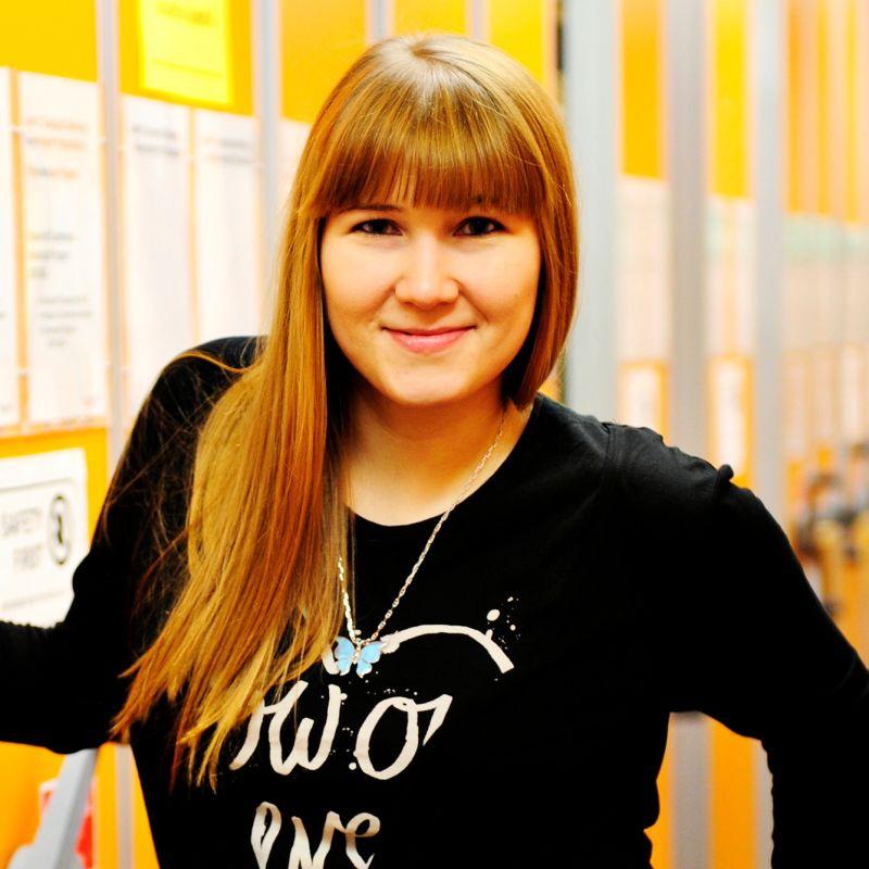 Photo of international student Lidia at INTO Newcastle University