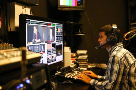 Students can study communication during their International Year One at Suffolk University