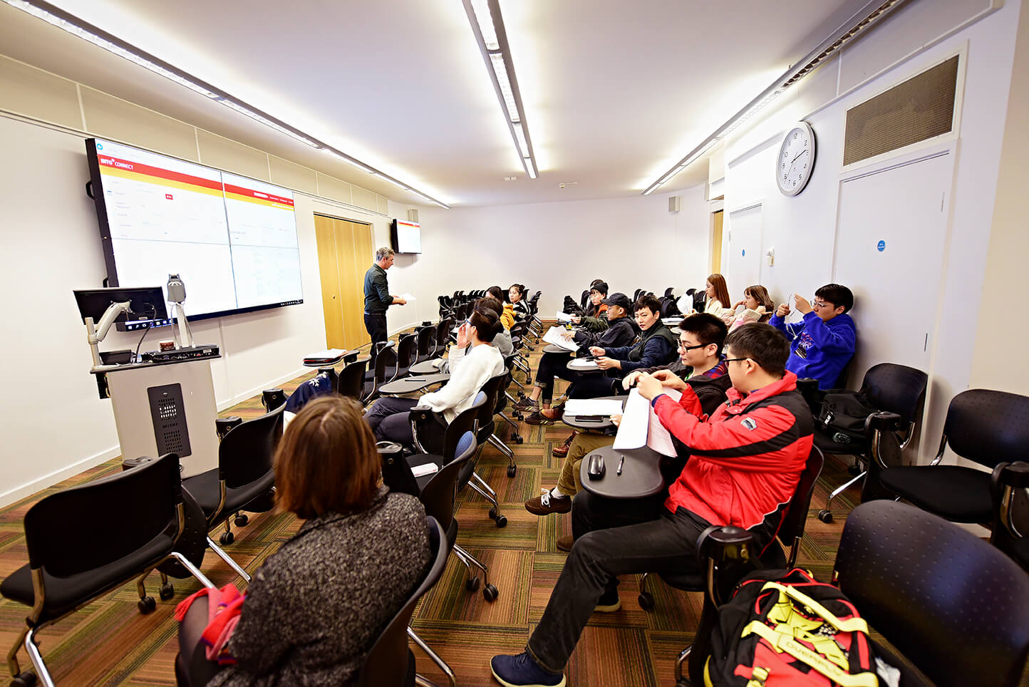 You'll have lecture-style classes in the INTO Centre to prepare you for university