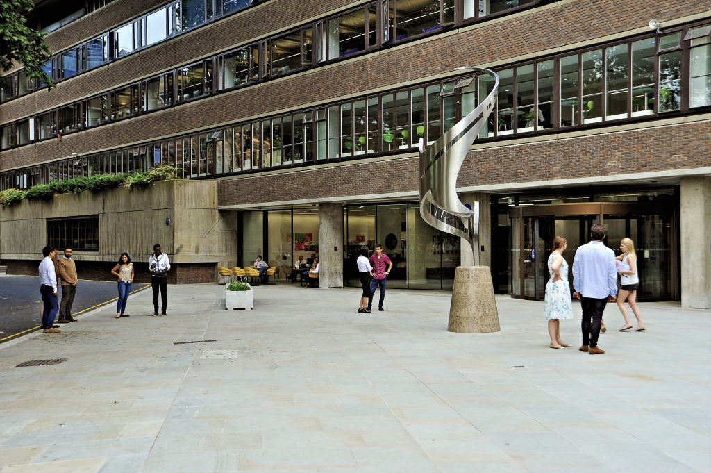 Students outside the City, University of London campus