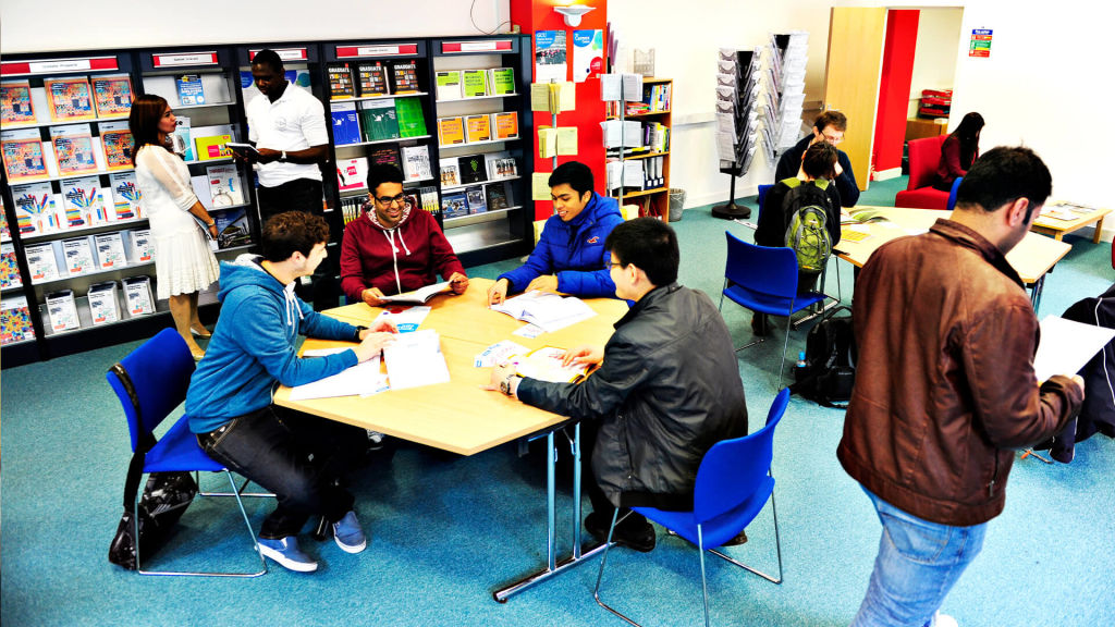 Students studying at Glasgow Caledonian University