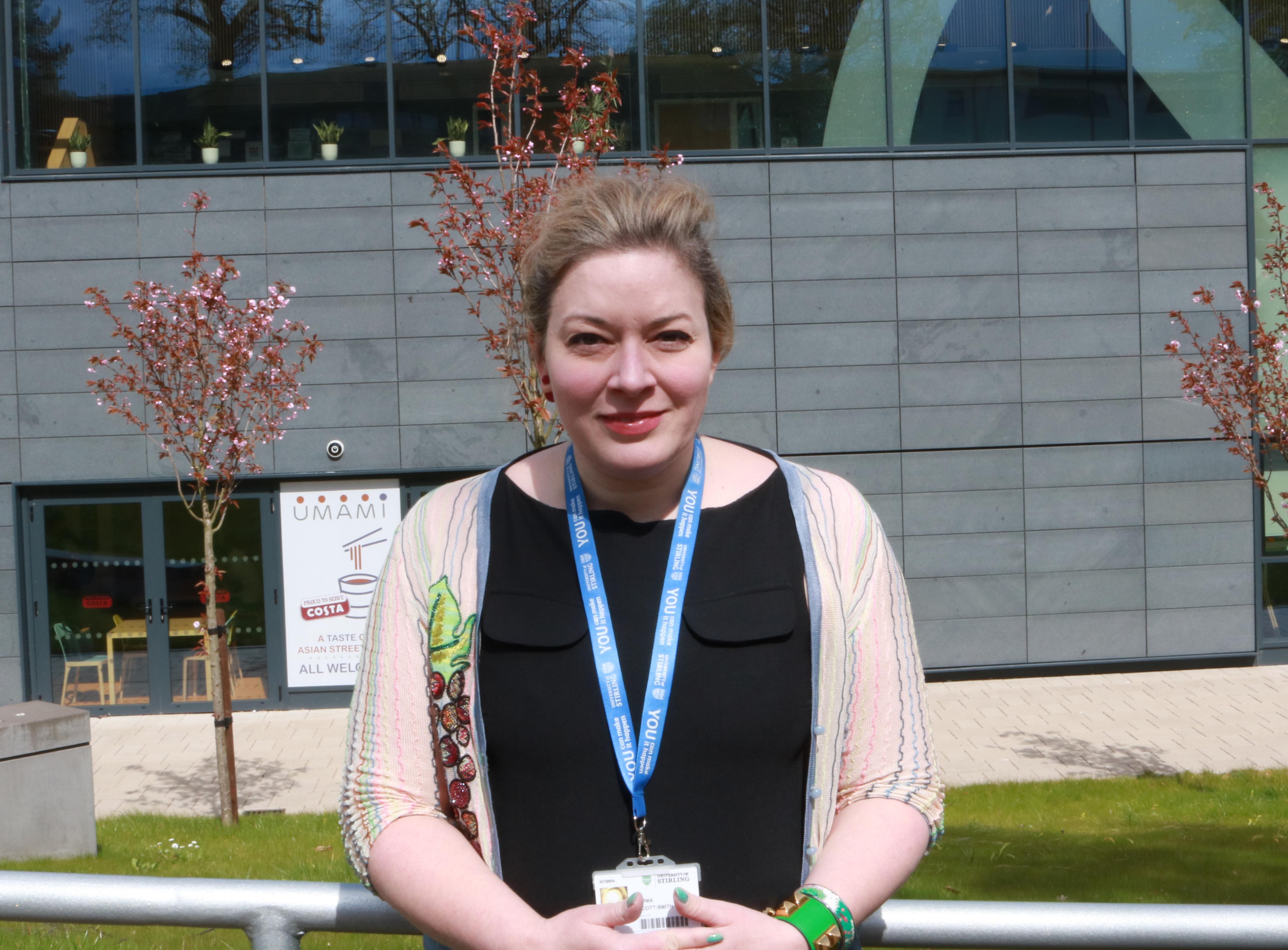 Image of INTO Stirling teacher, Emma