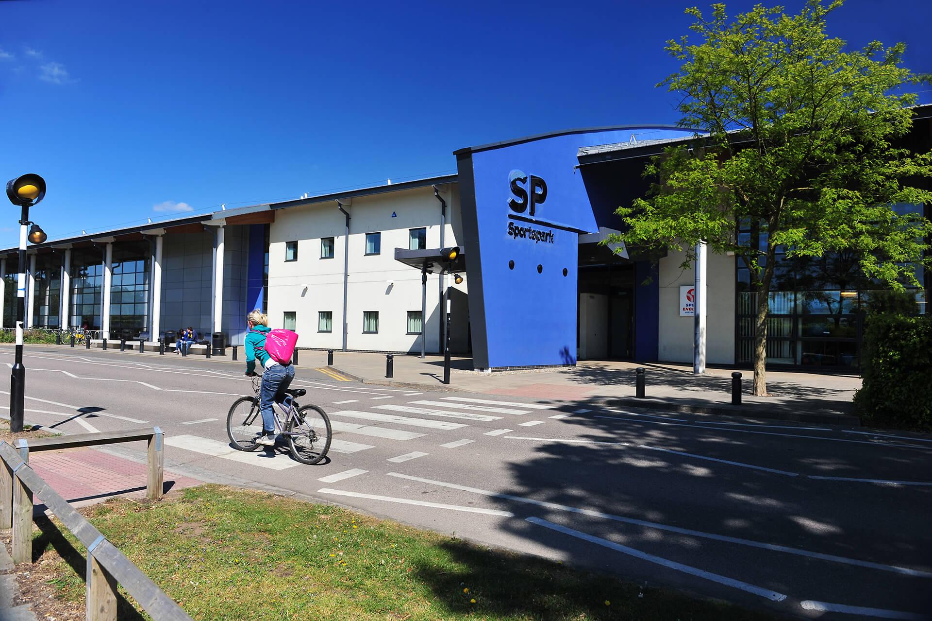 Outside view of UEA Sportspark