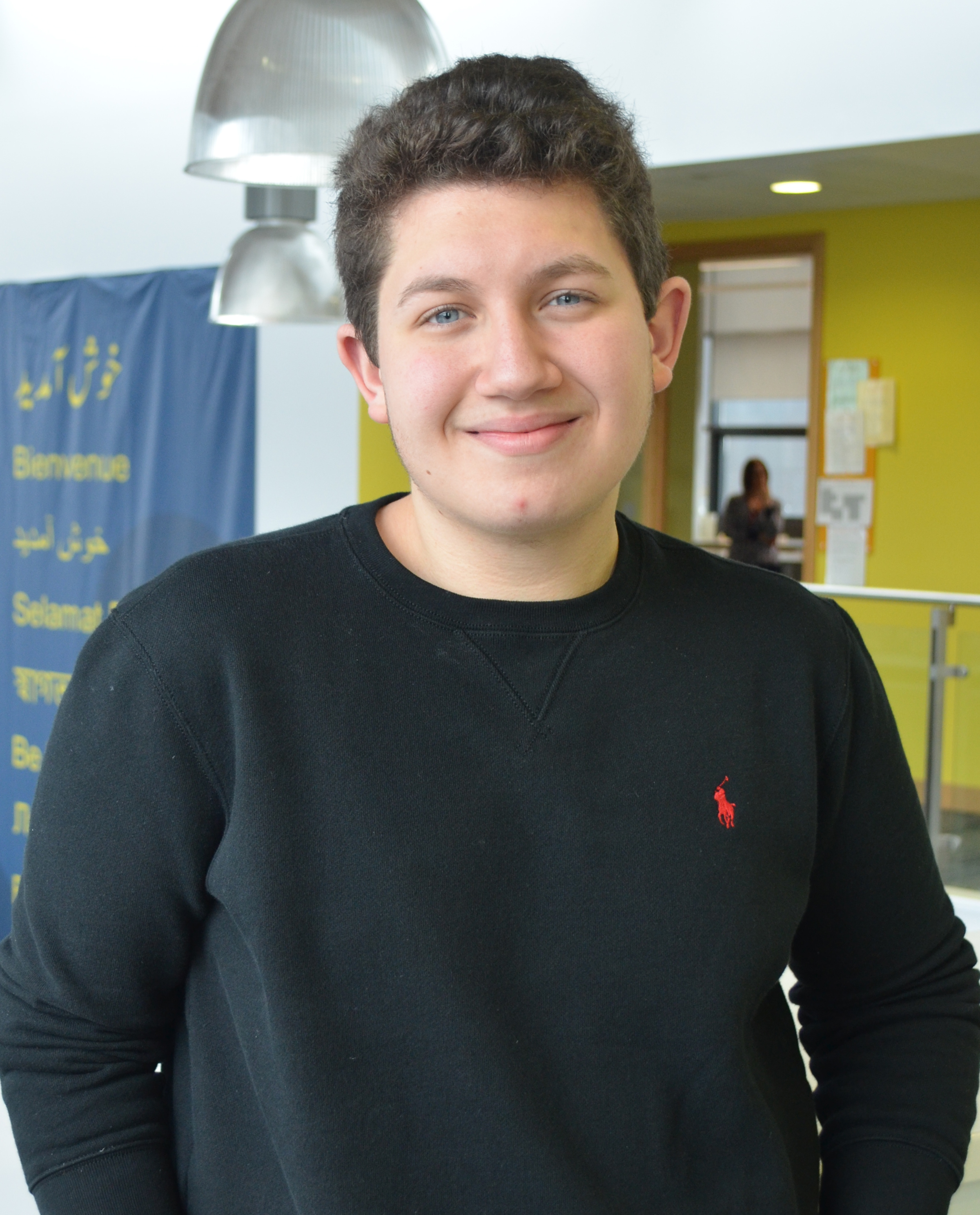 Photo of international student Majd at INTO Newcastle University