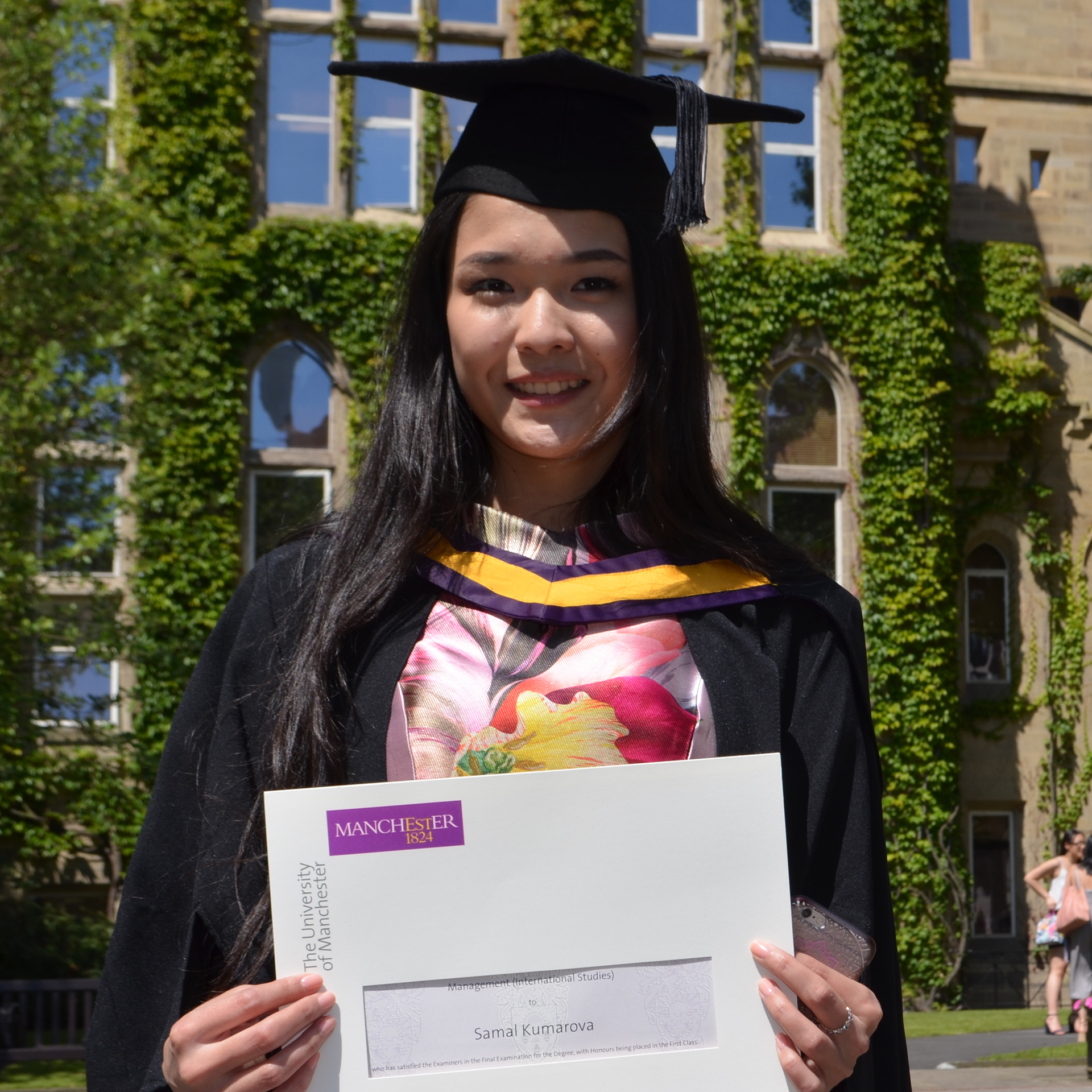 Photo of international student Kumarova at INTO Manchester
