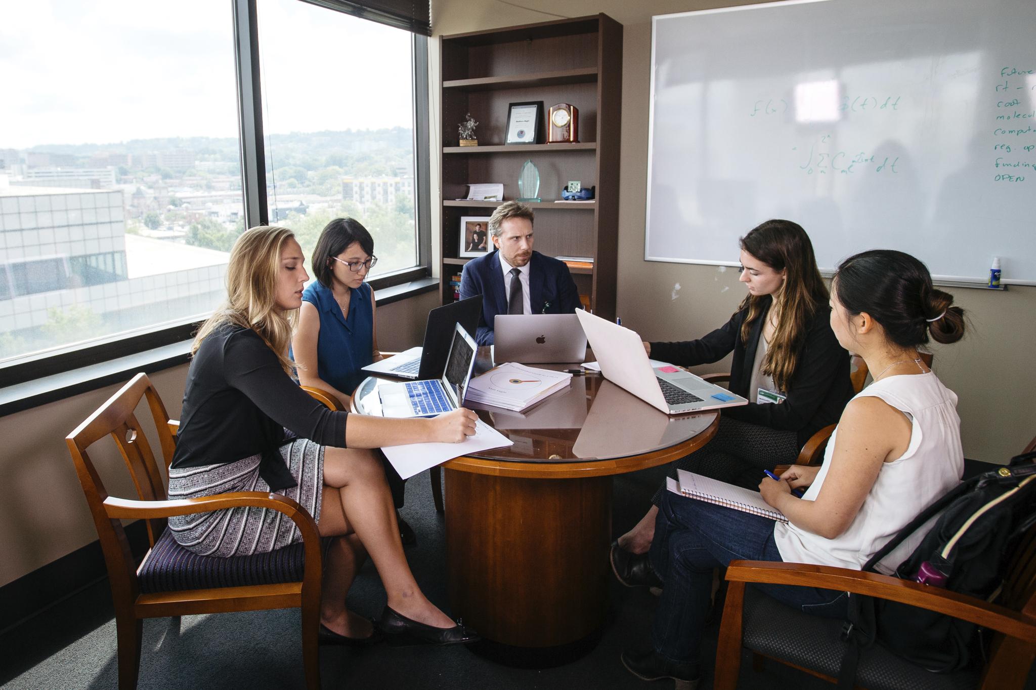 UAB People meeting desk