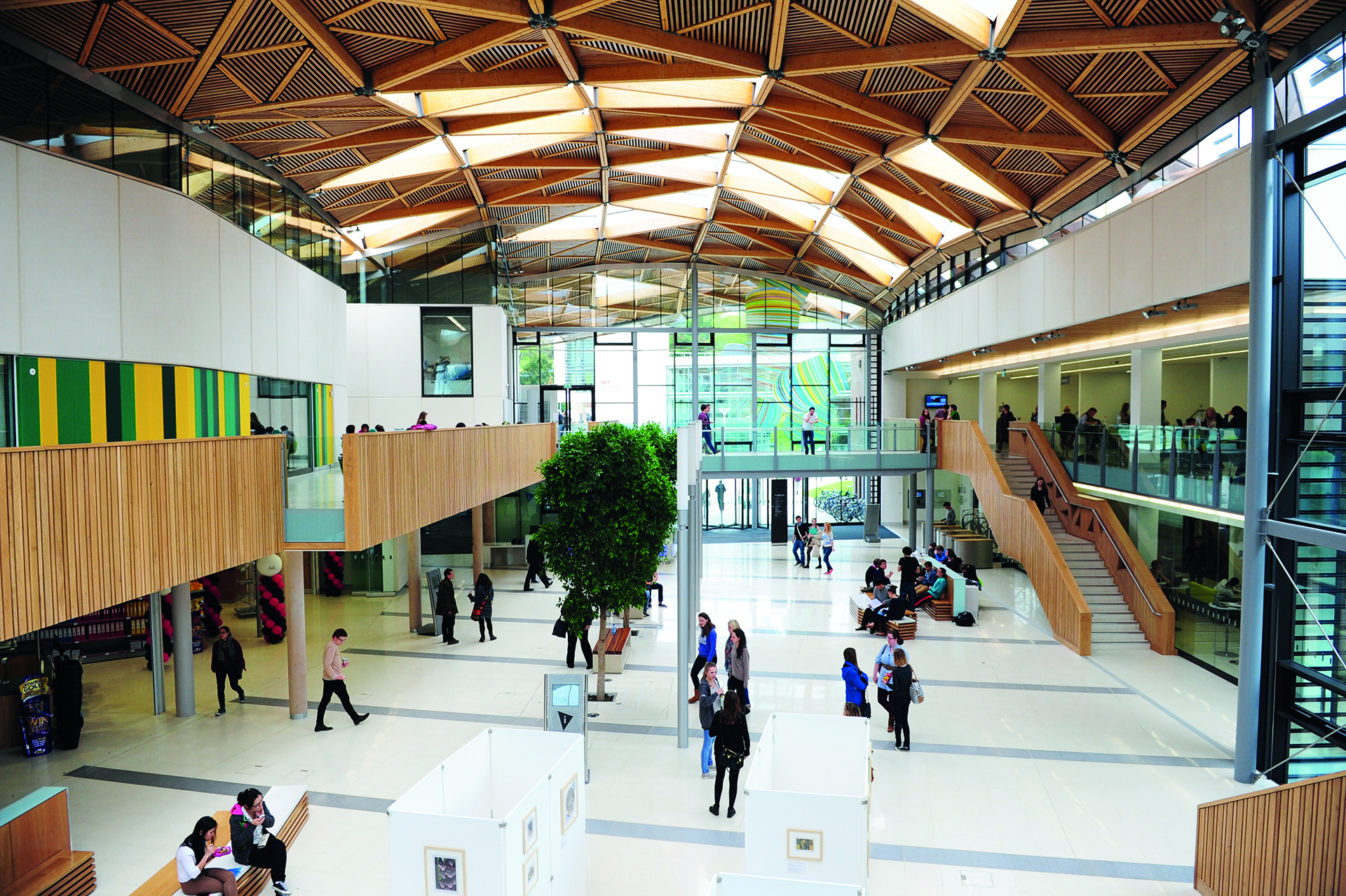 Interior view of The Forum at University of Exeter