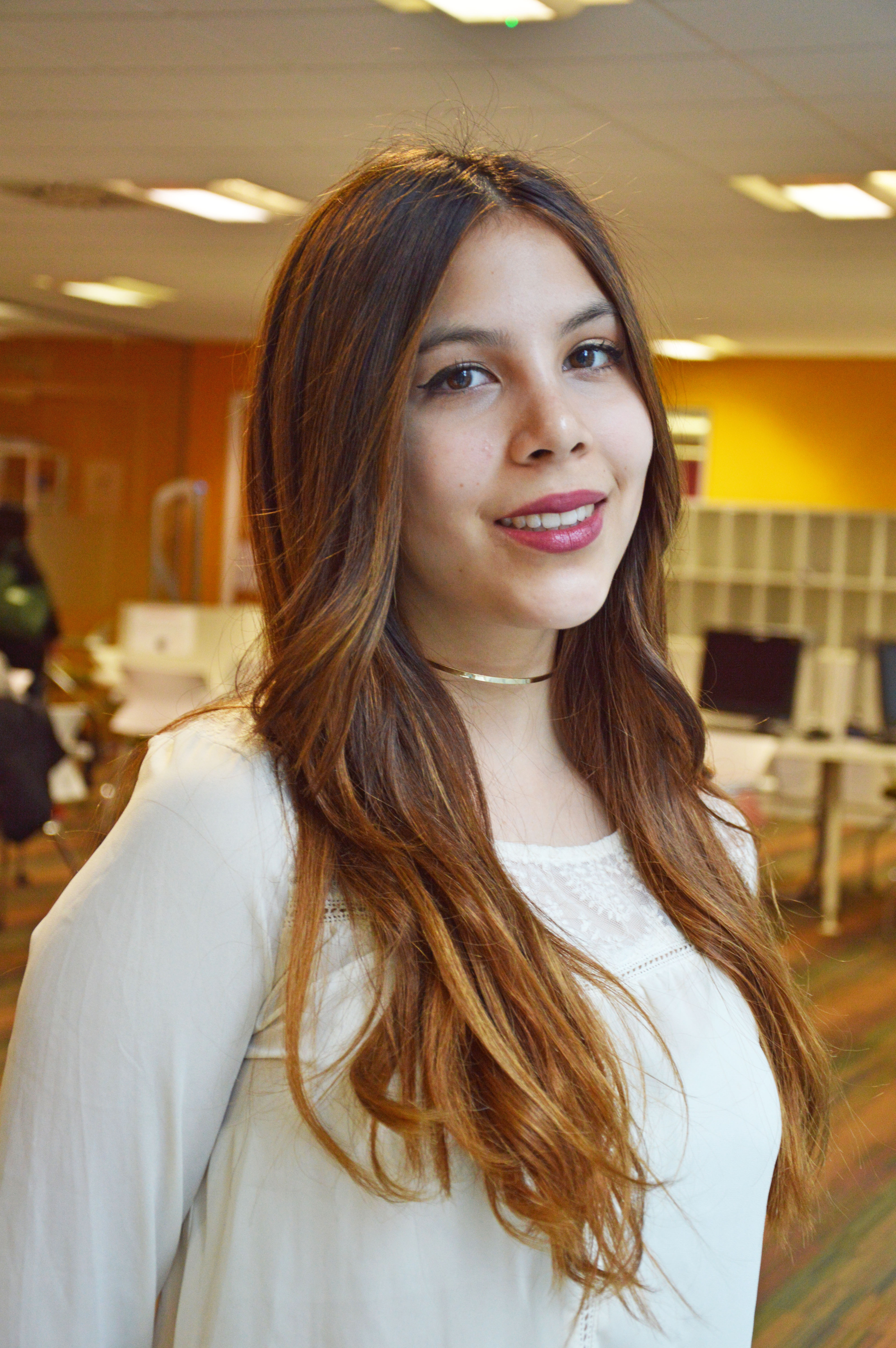 Photo of international student Gabriella at INTO London