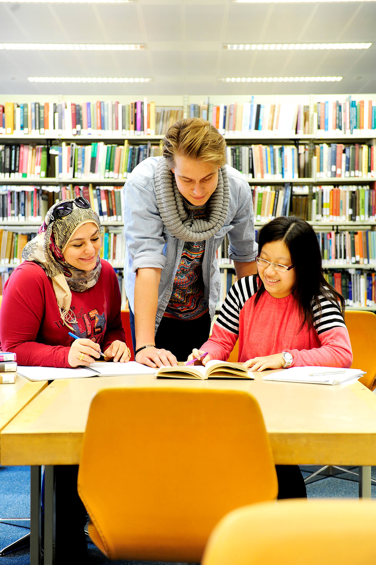 International students using the UEA Library