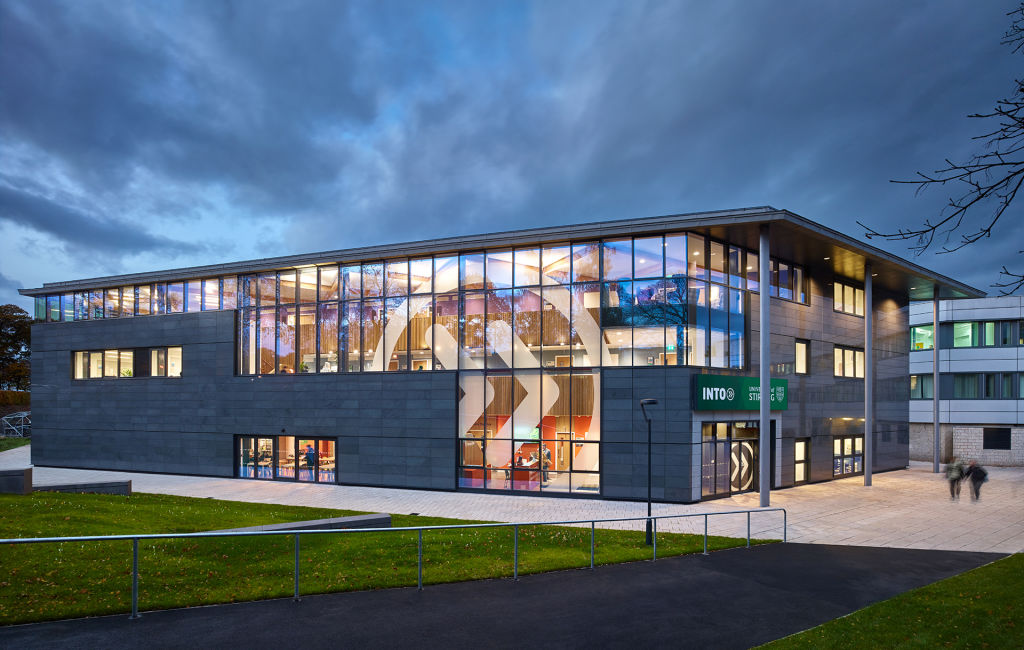 Exterior view of the INTO Centre at University of Stirling