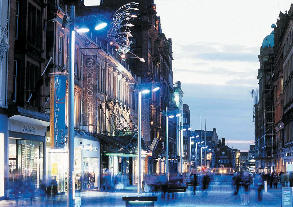Glasgow's main shopping area, Buchanan Street