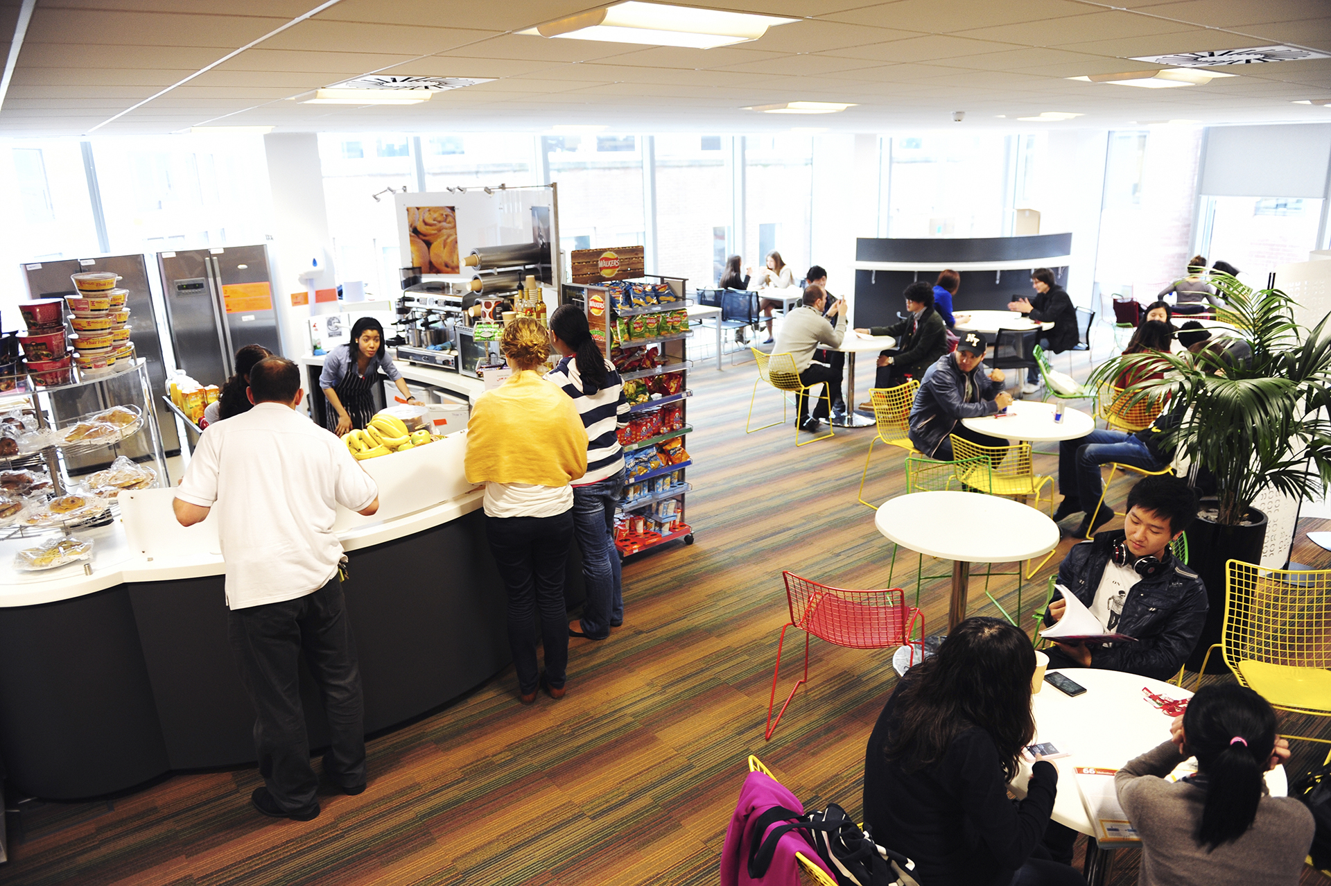 The INTO Centre cafe provides refreshments for students