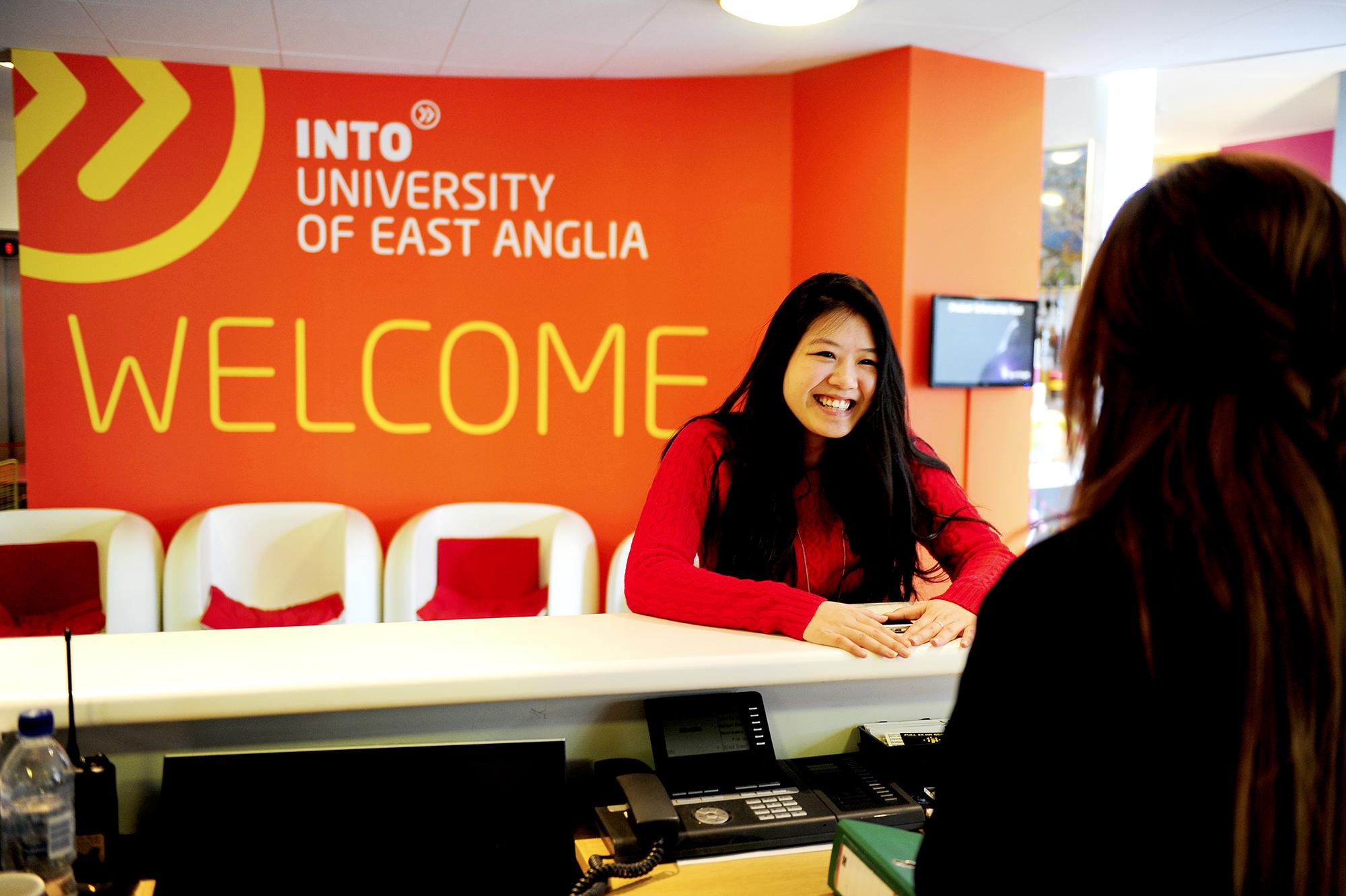 INTO UEA Welcome Desk