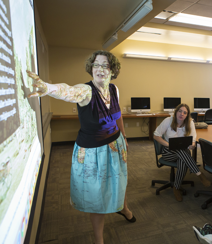 Professor Lisa Lynch, Associate Professor of Media and Communications, at Drew