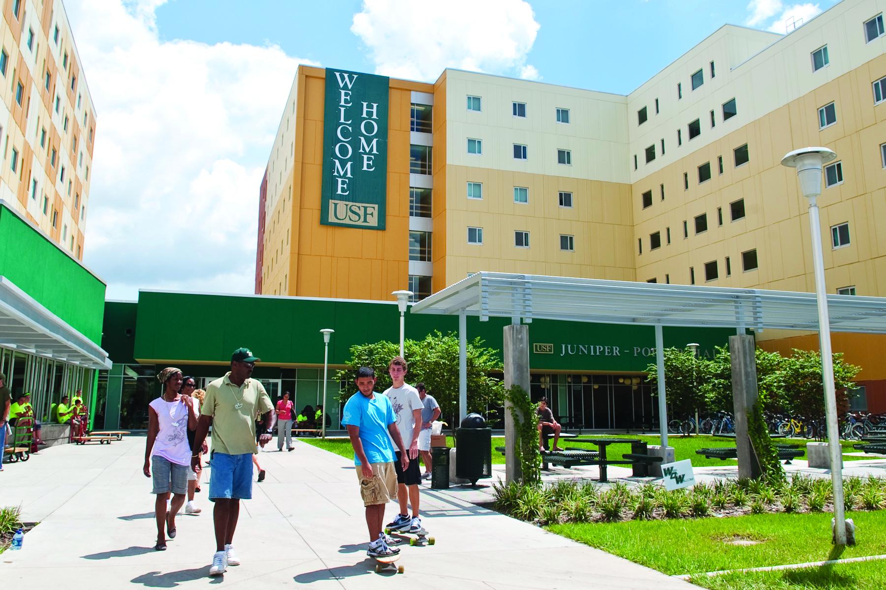 Juniper Hall residence hall at University of South Florida