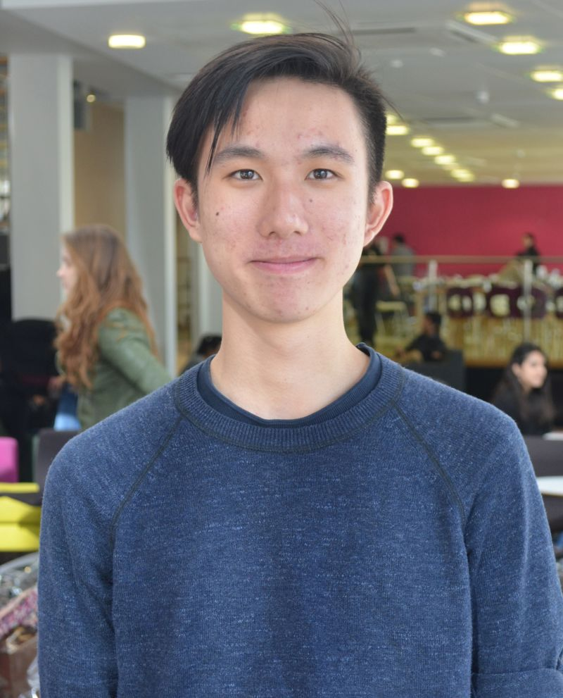 Photo of international student Tian at INTO Newcastle University