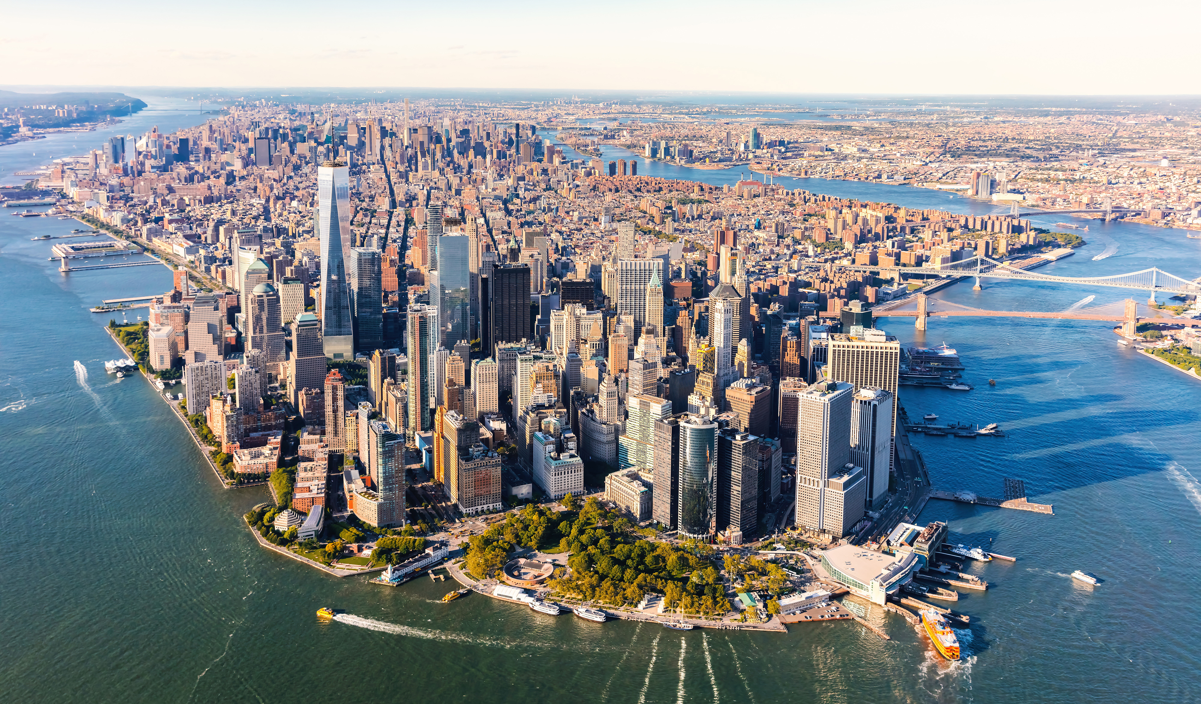 INTO Drew aerial view city