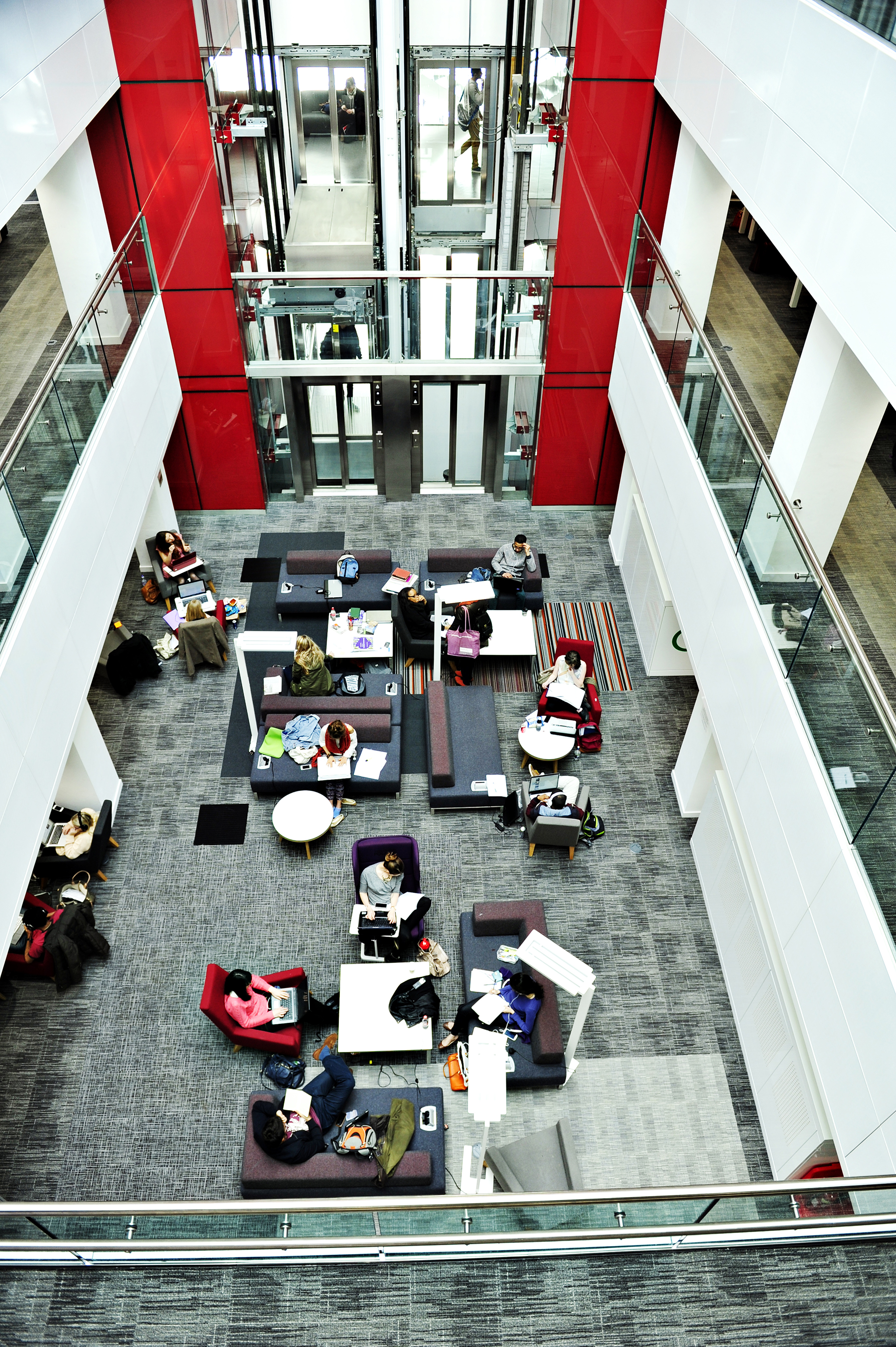Aerial view of Alan Gilbert Learning Commons at The University of Manchester