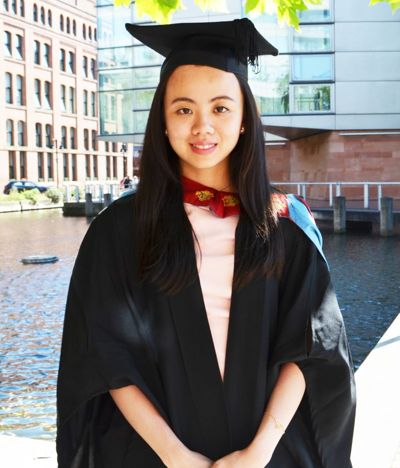 Photo of international student Jing at INTO Manchester in partnership with Manchester Metropolitan University