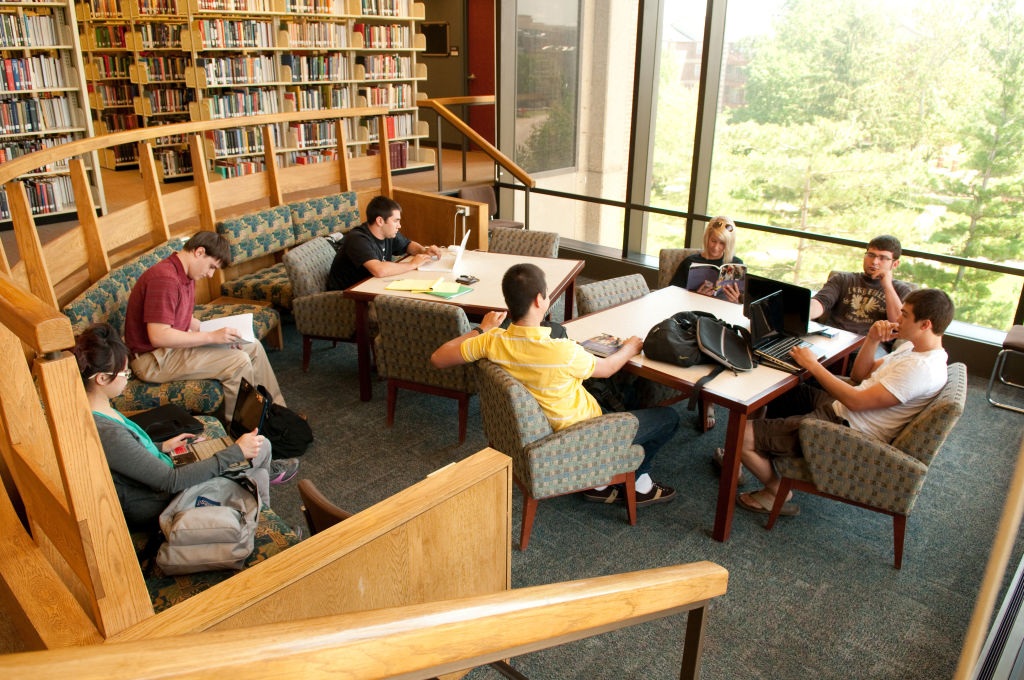Students studying in Millner Library