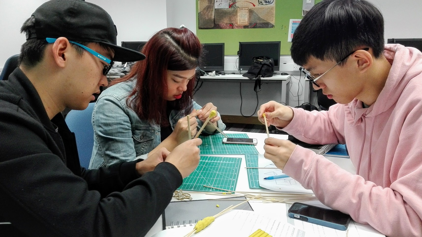 Students working on 3D models for architecture course
