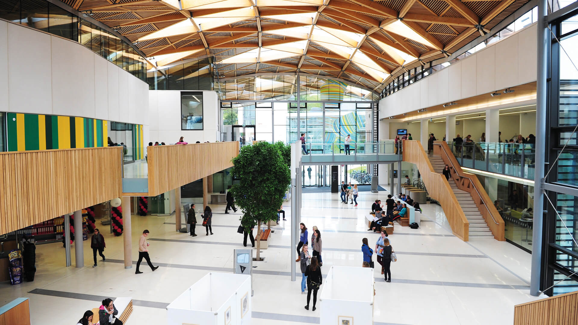 The Forum is a stunning £48 million centrepiece at the heart of the University of Exeter campus