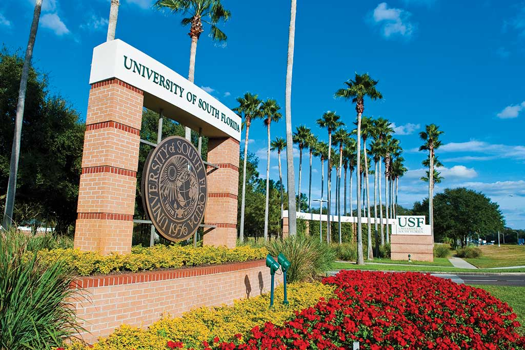 USF Welcome Sign
