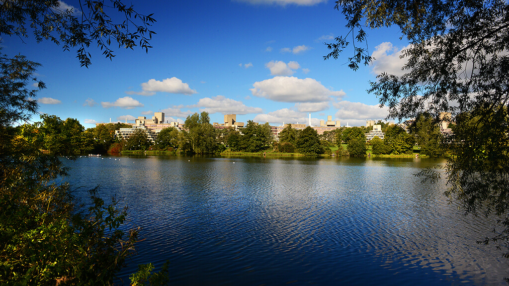 View of the Broad at the University of East Anglia