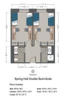 Double Semi-Suite Floorplan in Spring Hall