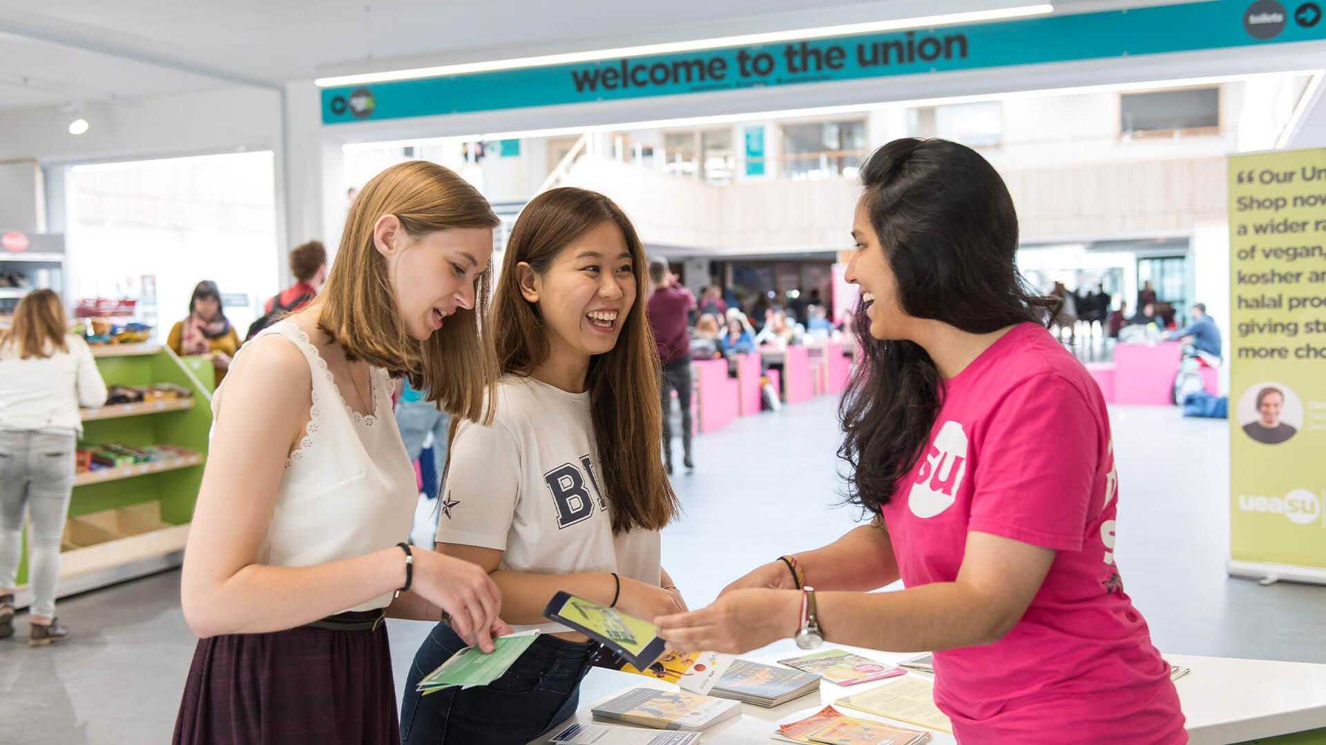 The Students' Union at the University of East Anglia offers academic advice to students