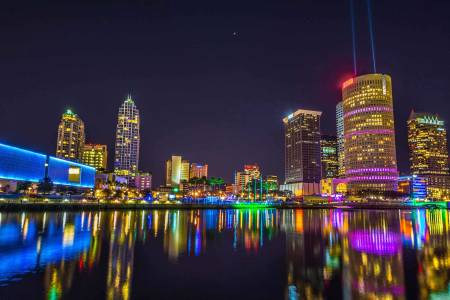 Tampa skyline near campus of University of South Florida