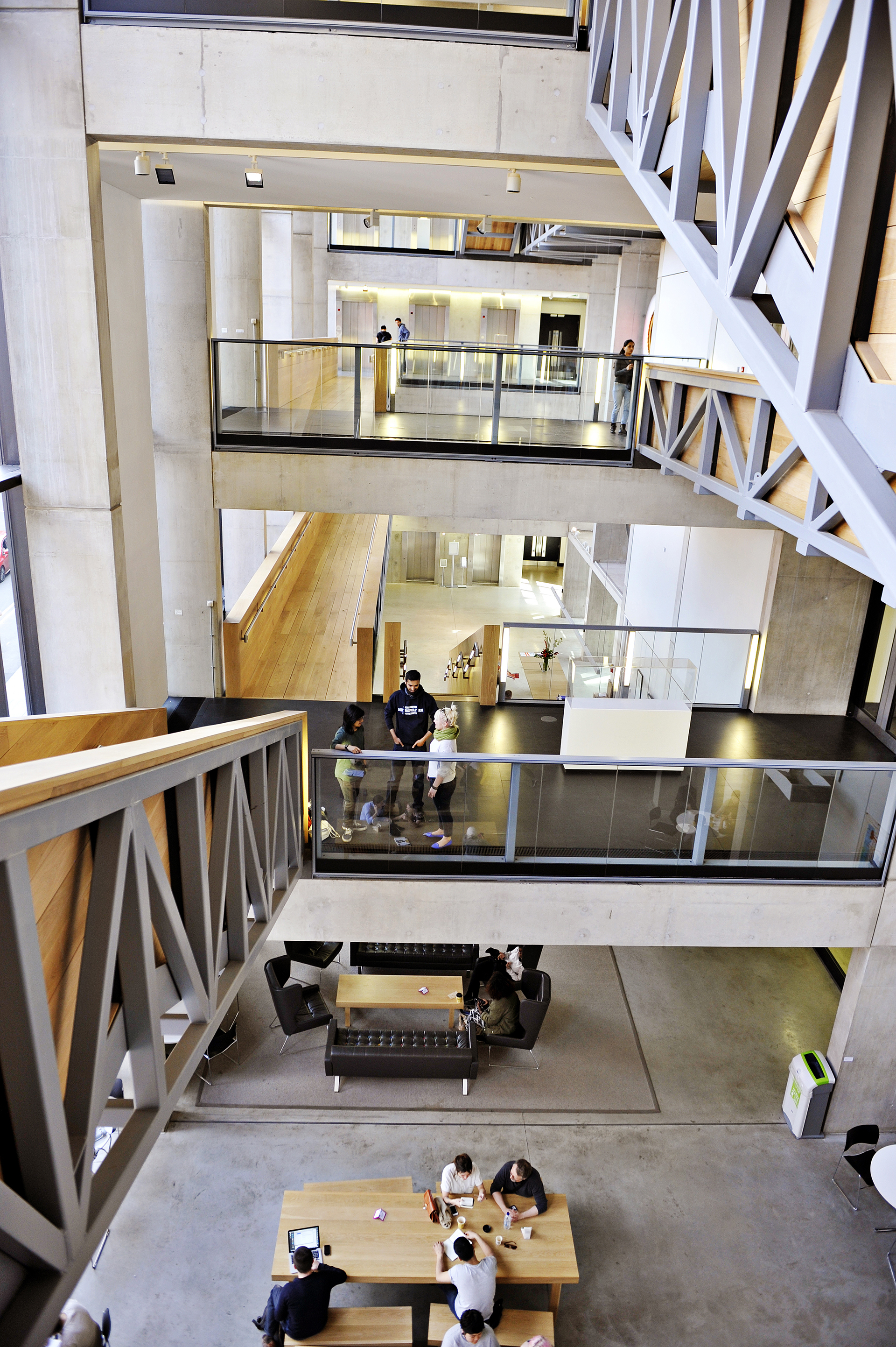 View of Manchester Metropolitan University from staircase