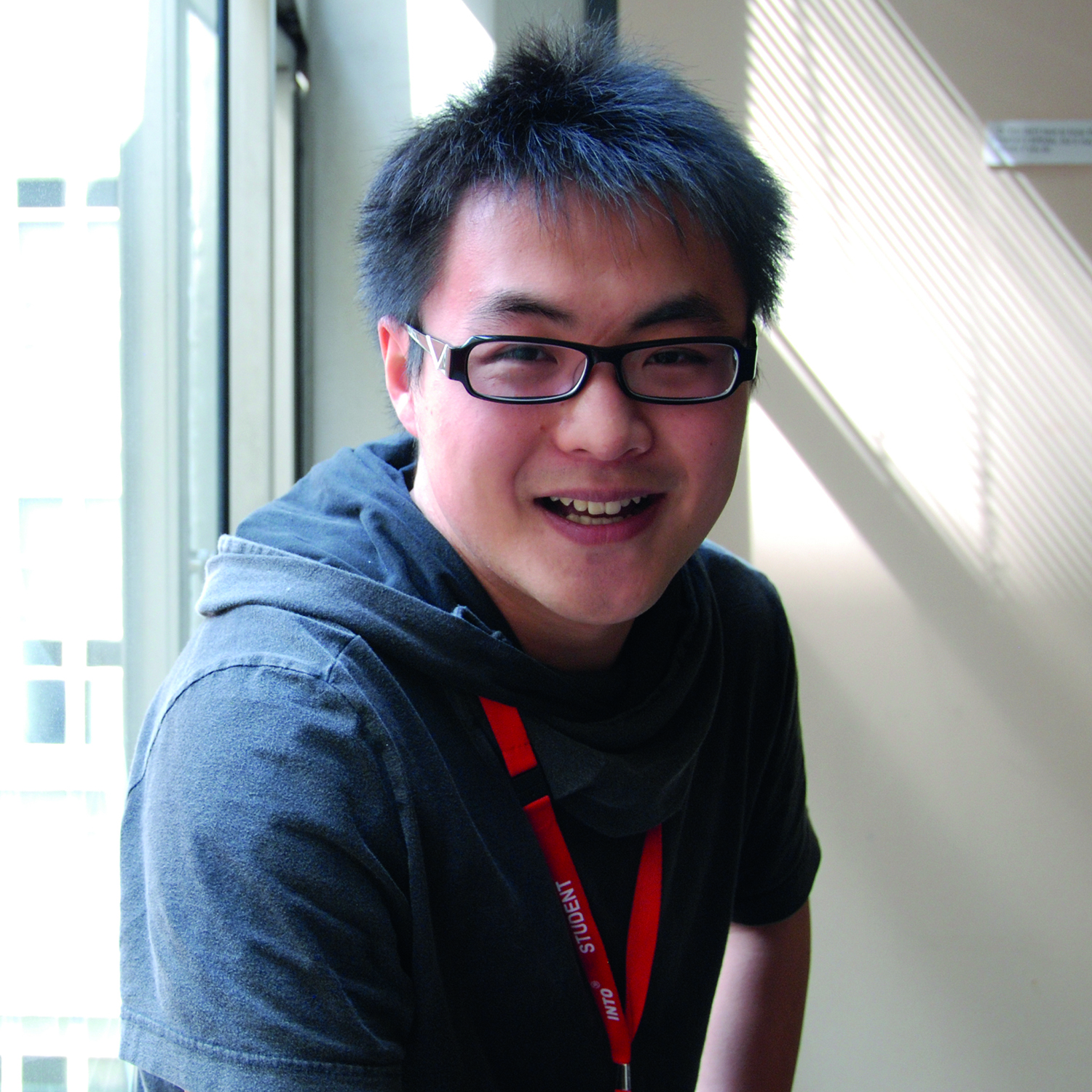 Photo of international student Qian at INTO Manchester