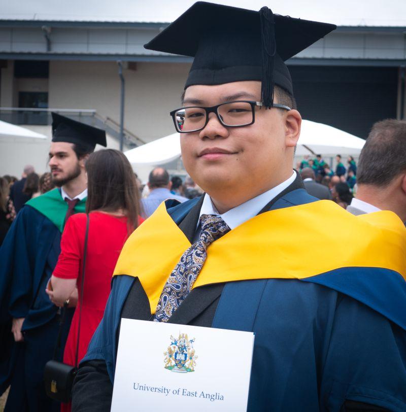 INTO UEA student Zainul, from Brunei