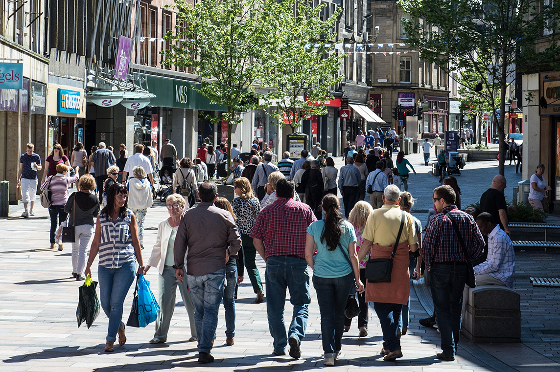 Shopping in Stirling city centre