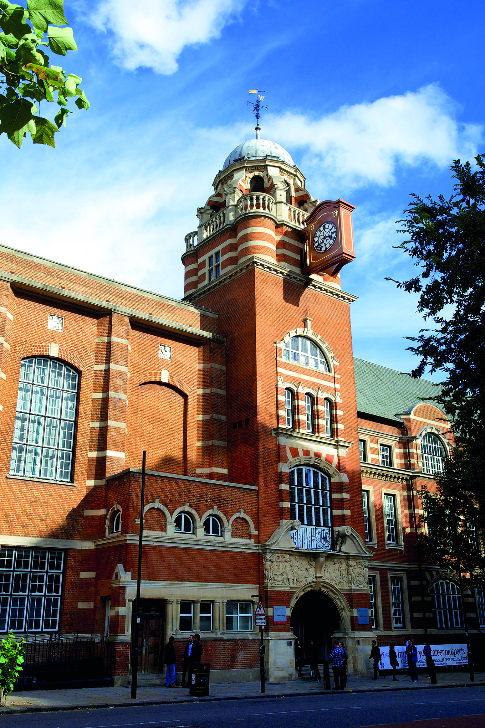 College Building entrance at City, University of London