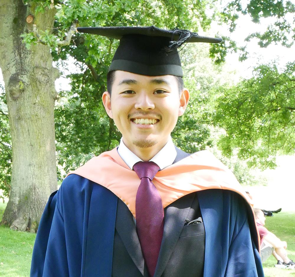 INTO UEA student Takayuki, from Japan