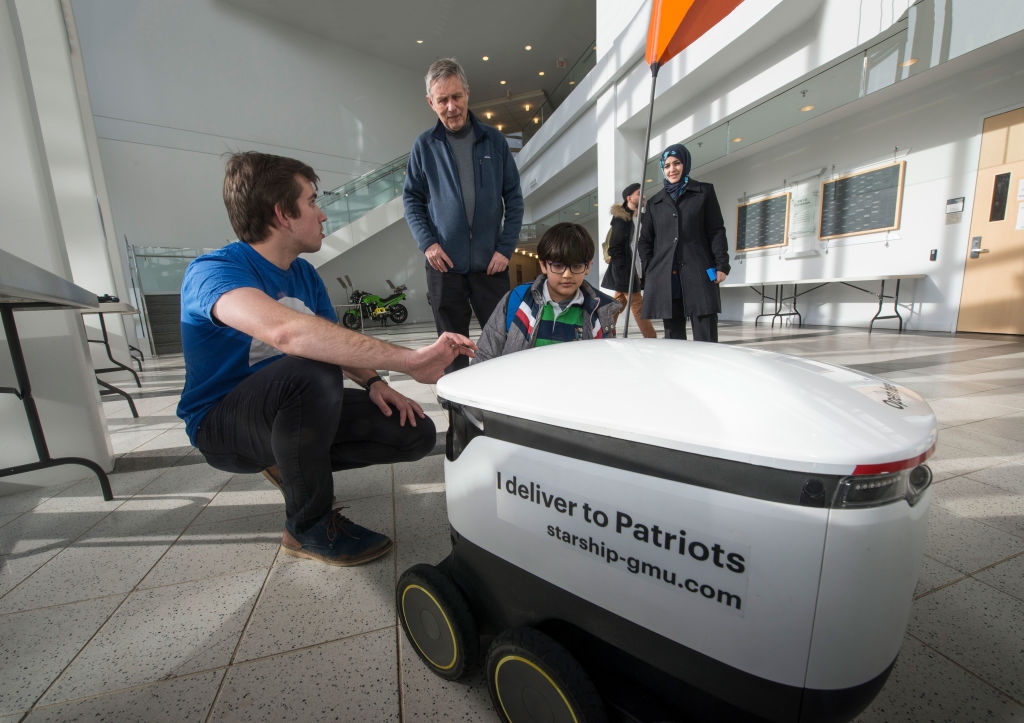 Get meals delivered to you on campus with the Mason robots