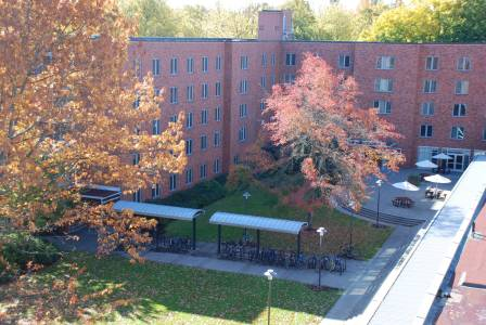 West Hall residence hall accommodation exterior at Oregon State University