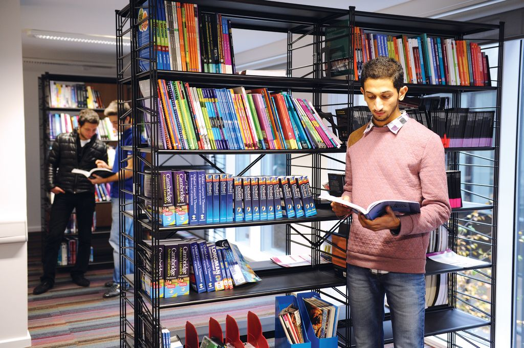 Students in the INTO Study Centre Learning Resource Centre
