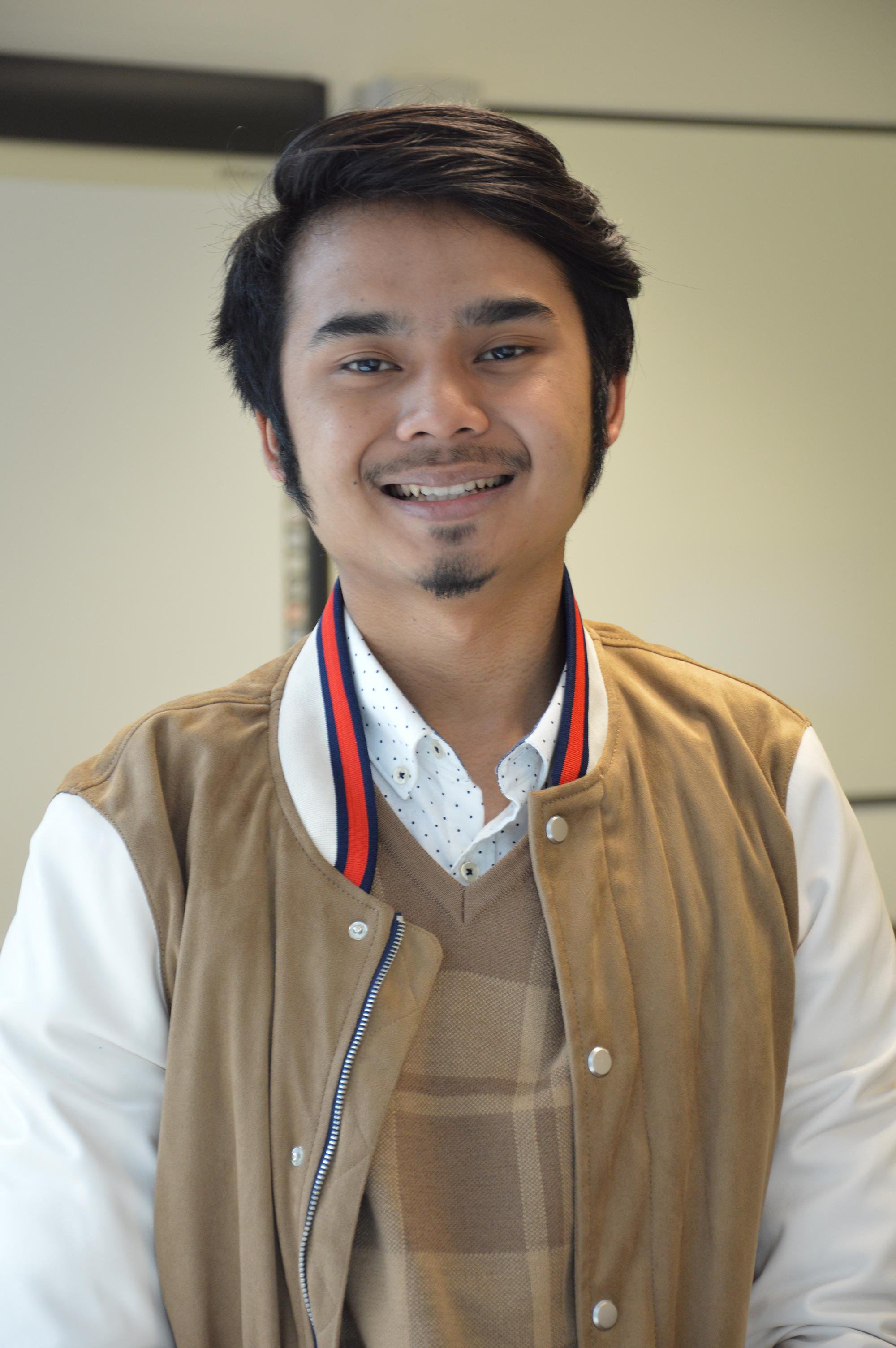 Photo of international student Aman at INTO London