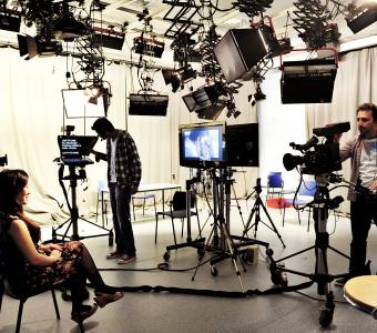 Students using the multimedia facilities at Manchester Metropolitan University