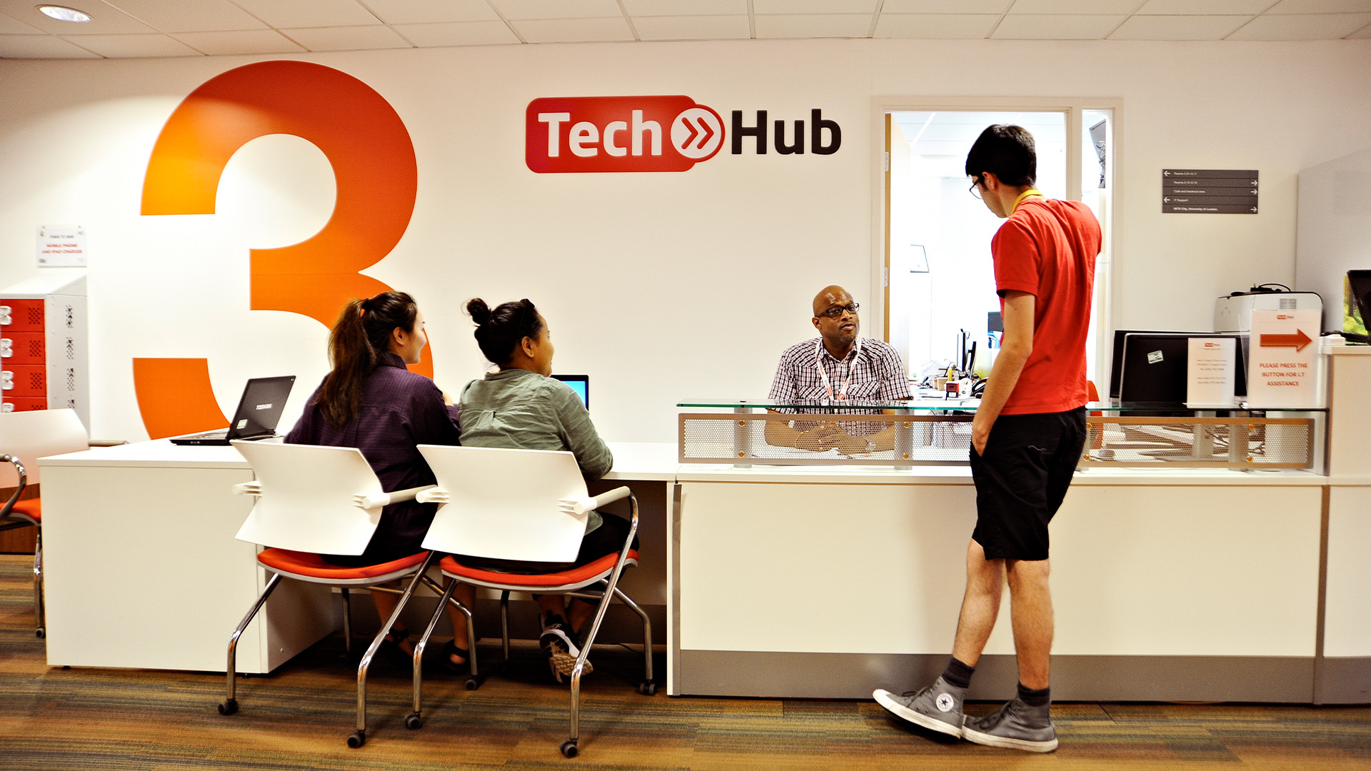The on-campus tech hub offers technology support to students