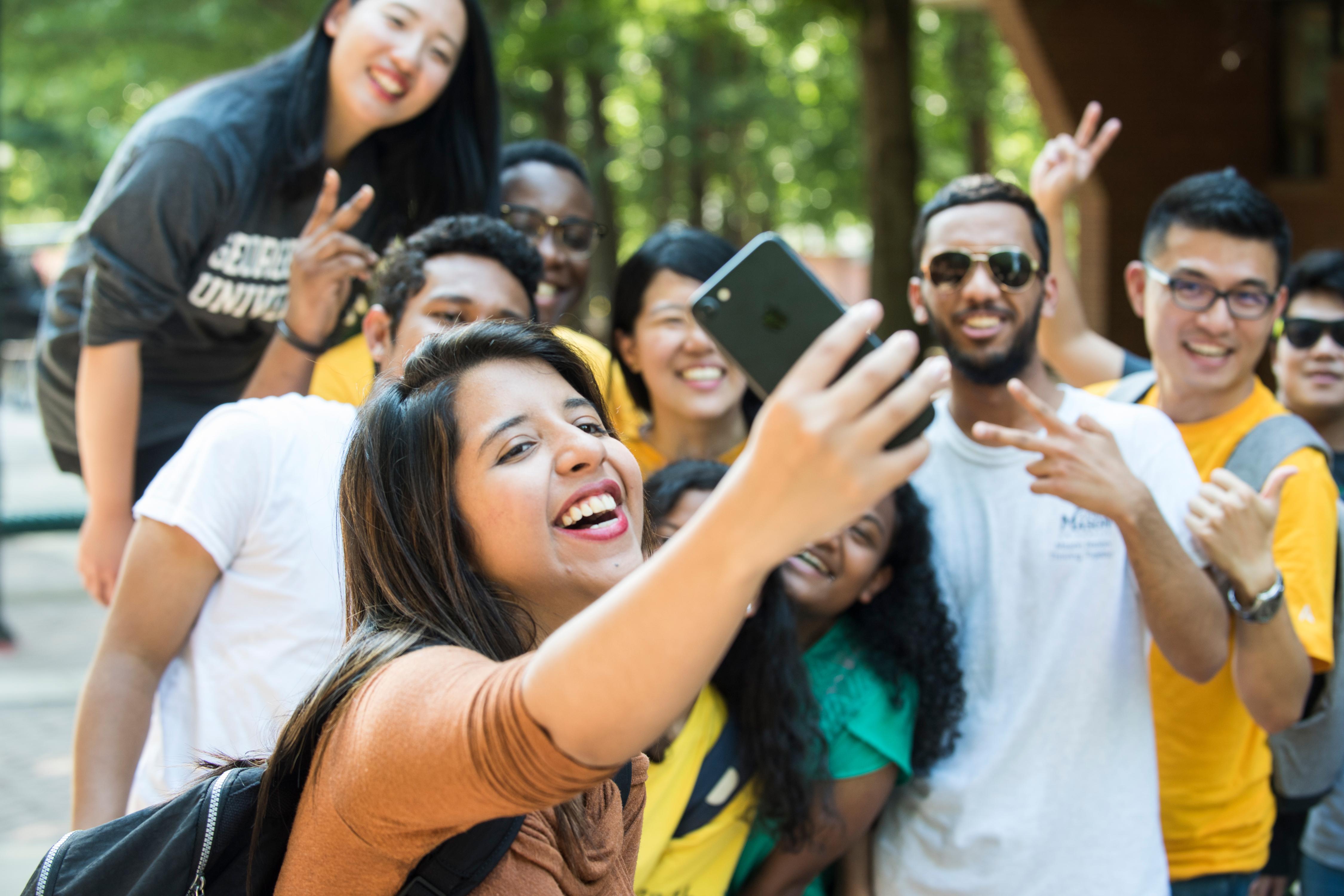 GMU Students taking group photo
